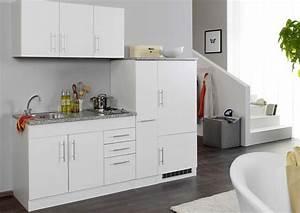 Single Einbauküchen Mit Elektrogeräten : singlek che 210 cm mit einbauk hlschrank und kochfeld ~ Markanthonyermac.com Haus und Dekorationen