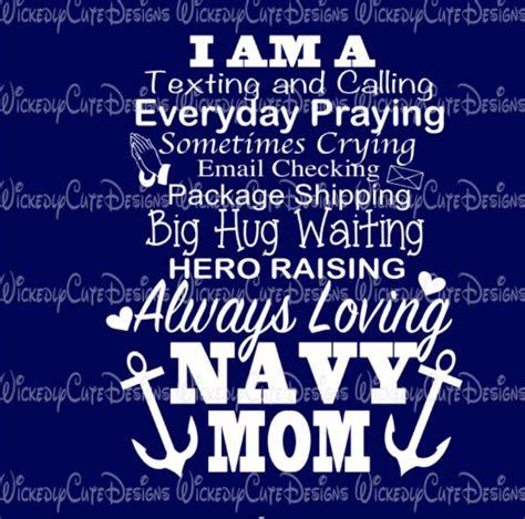 navy mom svg dxf eps png digital file