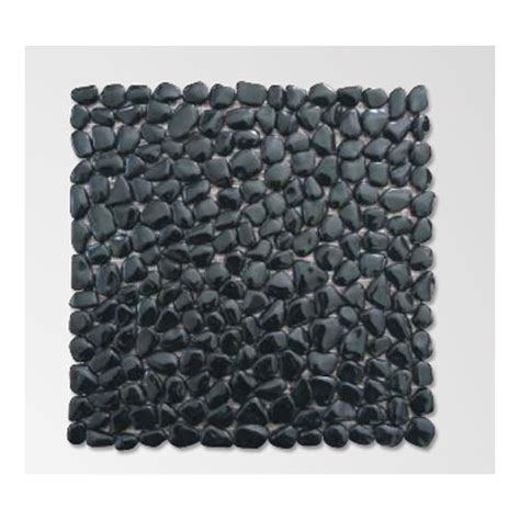 Pebble Doormat by Black Polished Pebble Mat Rs 275 Square Tile