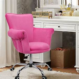 Magshion, Deluxe, Microfiber, Office, Desk, Chair, Bar, Stool, Beauty, Nail, Salon, Spa, Vanity, Seat, Pink
