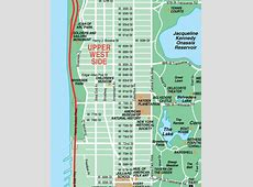 New York Map Upper West Side