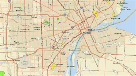 dte energy power outage map thousands  metro detroiters