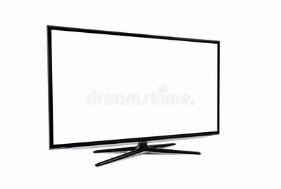 Smart Tv Isolated Blank Screen Background