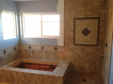 tiled master shower bycdc chad dieter tile in temecula ca