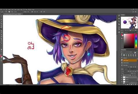 kursus character art complete coloring painting