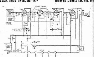 Emerson Models 501  502  504 Schematic  U0026 Parts List