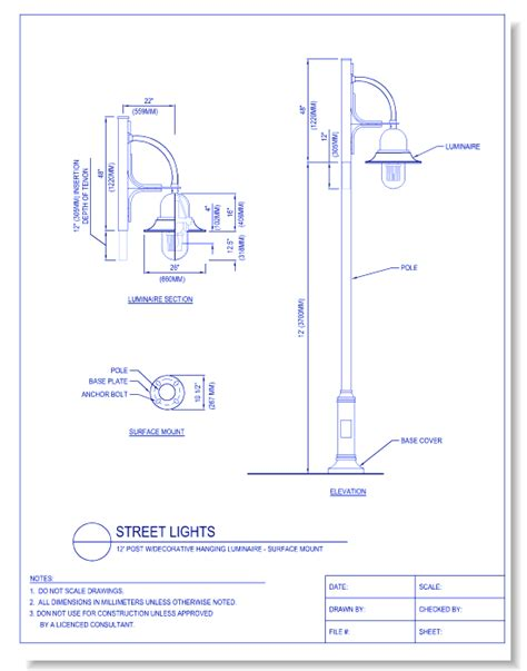 bollard lights caddetails com electrical cad drawings caddetails com