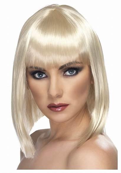 Wig Blonde Costume Glam Wigs Bob Costumes