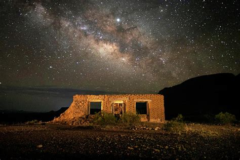 The coffee that started it all. Chisos Mountain Homestead Under The Milky Way Photograph by Harriet Feagin Photography