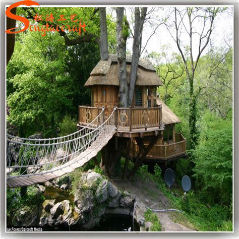 outdoor decor artificial wooden tree houses  sale