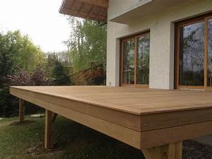 terrasse en bois exotique ipe sur pilotis et escalier With terrasse sur pilotis en bois