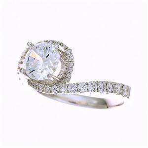 Quotcurvyquot diamond engagement ring setting in 18kt white gold for Diamond wedding ring settings