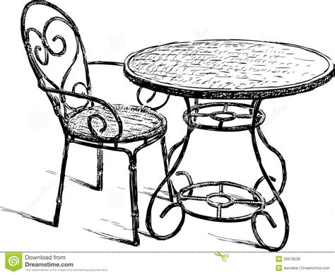 dessin de chaise table and chair royalty free stock photos image 30578538