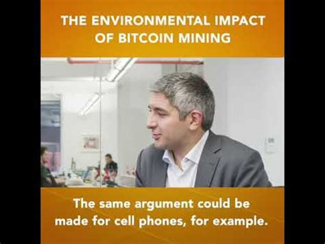 The creators of ethereum, considered. FinTech Capsule with Henri Arslanian: The Environmental Impact of Bitcoin Mining - YouTube