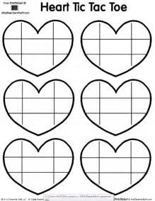 Printable Heart Tic Tac Toe