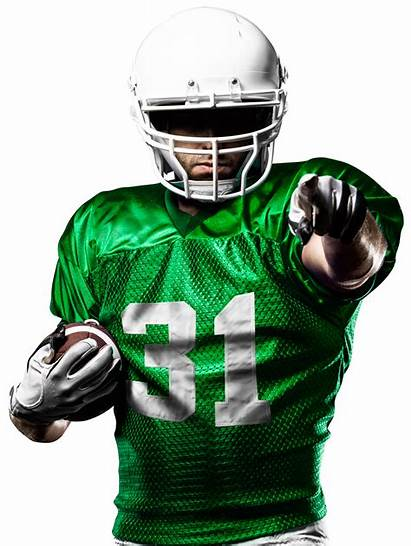 Football American Player Clipart Team Transparent Pointing
