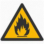 Warning Flammable Materials Icon Hazard Risk Fire