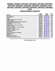 Yale F876 Gdp210dc Lift Truck Service Repair Manual