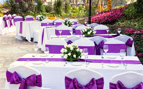 Perfect Purple Wedding Reception Decorations On