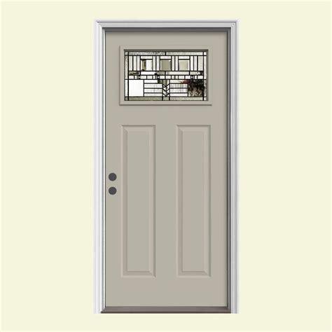 jeld wen entry doors jeld wen 37 438 in x 81 75 in 1 lite craftsman oak park