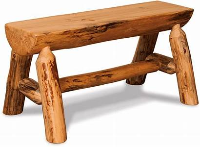 Log Bench Half Furniture Rustic Dining Pine