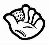 Baseball Glove Coloring Coloringcrew Colorear sketch template