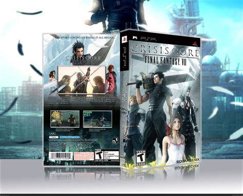 Crisis Core Final Fantasy Vii Psp Box Art Cover By Mf29