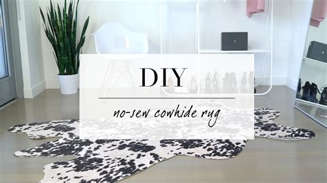 Diy Cowhide Rug by Diy Cowhide Inspired Rug Home Decor Le