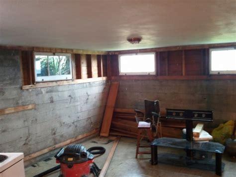 insulate split framedpoured basement wall prior