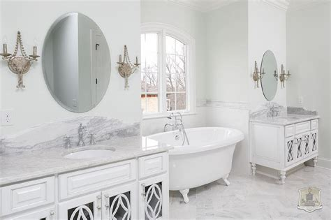 Green And Gray Bathroom With Tub Nook-transitional