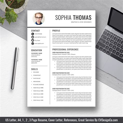 selling office word resume cv templates cover
