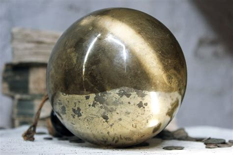 antiques atlas early gold mercury glass witches ball