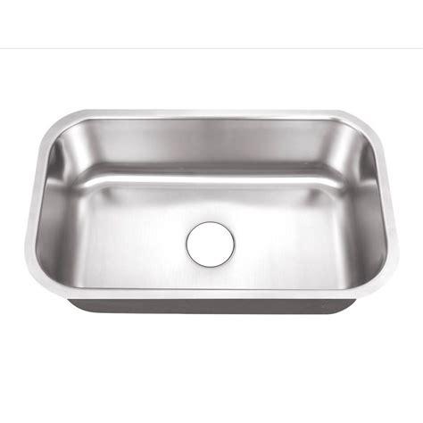 1 basin kitchen sink belle foret undermount stainless steel 30 in 0 hole