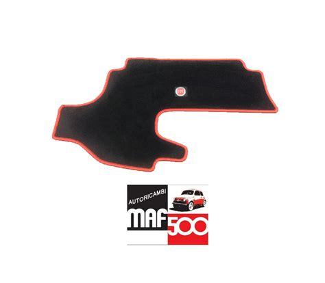 tappeto con logo tappeto in moquette interno cofano anteriore logo fiat 500