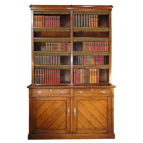 Victorian Gothic Oak Library Bookcase 242151