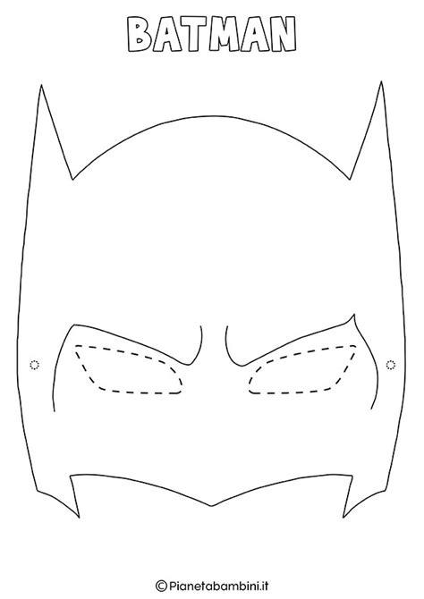 disegni da colorare batman e maschere di supereroi da colorare per bambini