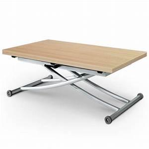 Table Basse Chene Clair : table basse relevable scandinave ch ne clair pas cher scandinave deco ~ Teatrodelosmanantiales.com Idées de Décoration