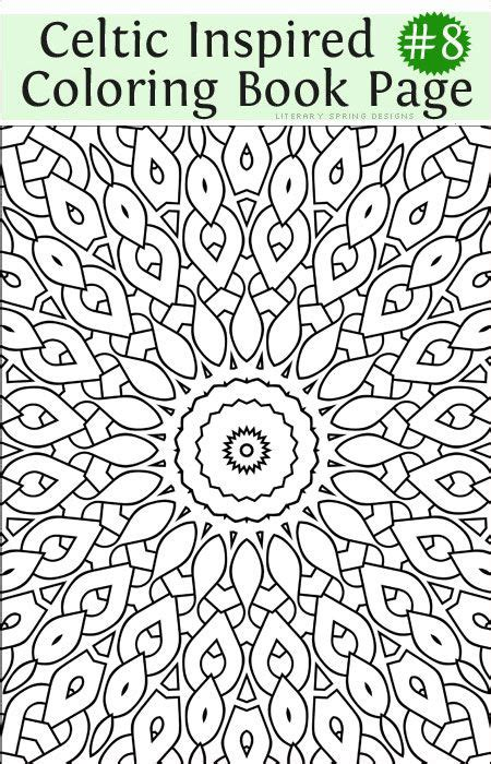 printable fancy celtic inspired coloring book number