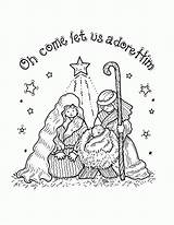 Coloring Pages Nativity Printable Jesus Popular sketch template