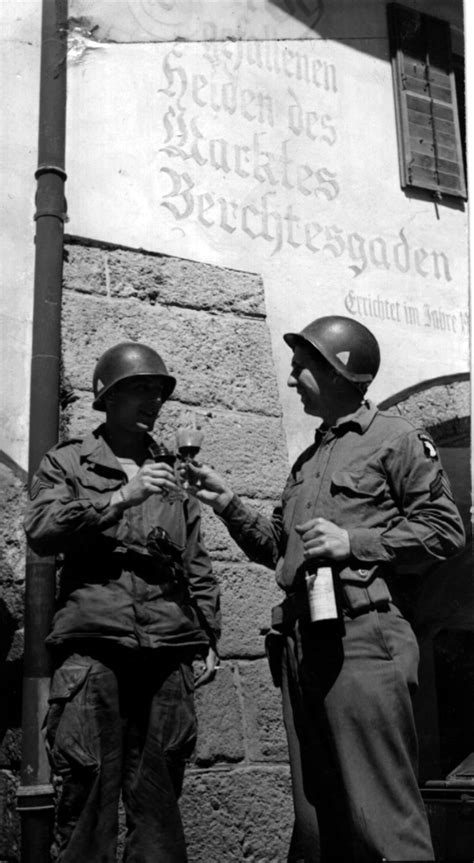File:American soldiers at Berchtesgaden toast victory