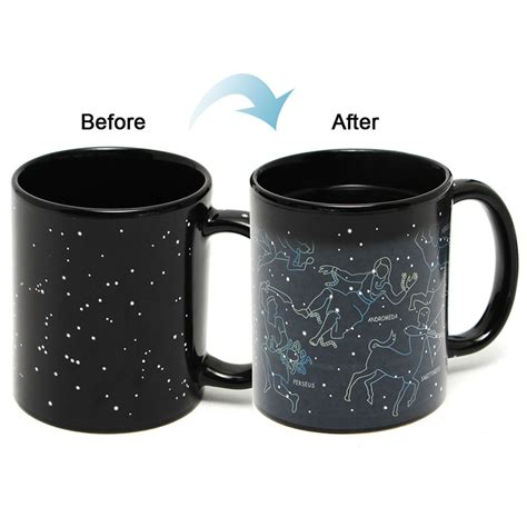 Brand New 301 400ml Fantastic Star Sign Mug 10oz Tea Coffee Juice Water Cup Cool Heat Changing