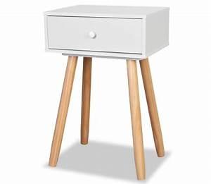 Table De Chevet Bois Massif : acheter vidaxl table de chevet 2 pcs bois de pin massif 40 x 30 x 61 cm blanc pas cher ~ Teatrodelosmanantiales.com Idées de Décoration