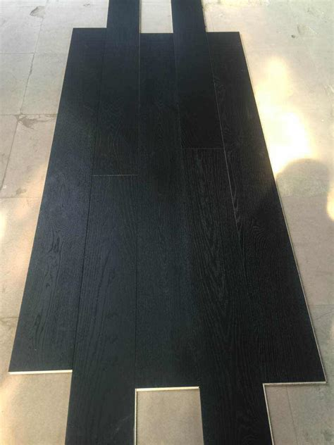 mm black oiled wire brushed oak engineered flooring