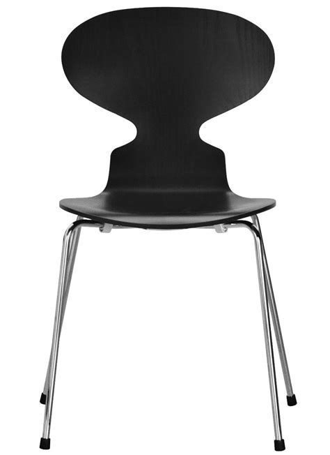 chaise fourmi chaise empilable fourmi noir fritz hansen