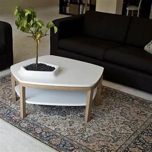 Table Basse Blanche Design : table basse volcane blanche 2 plateaux bellila absolument design ~ Teatrodelosmanantiales.com Idées de Décoration