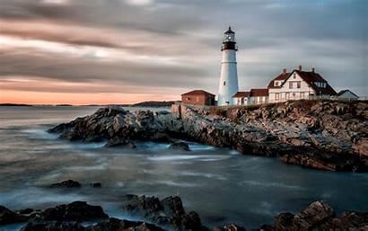 Lighthouse Maine Coast Screensavers Wallpapers Laptop Bar