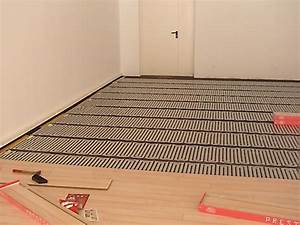 Plancher chauffant electrique chauffage au sol thermalu for Chauffage au sol electrique parquet