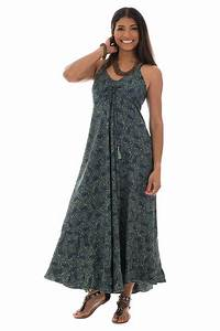 Robe Longue Style Boheme : robe longue style boh me fines bretelles et col en v malena ~ Dallasstarsshop.com Idées de Décoration