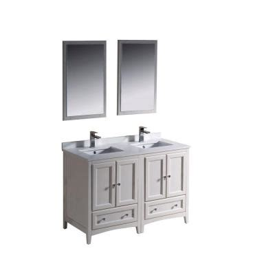 fresca oxford 48 in vanity in antique white with