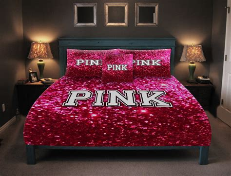 victoria secret pink bedding glitter look not real glitter